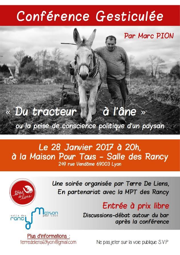 Conférence Gesticulée «Du Tracteur à L'Âne» Par Marc Pion