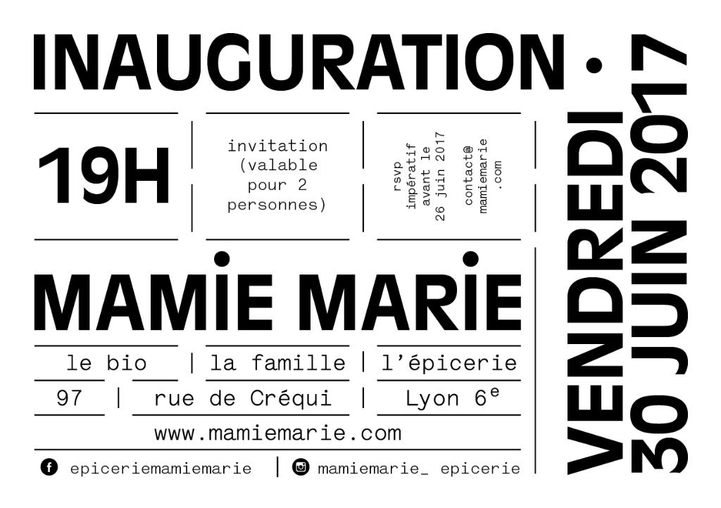 Inauguration De L'épicerie Mamie Marie : Venez Nombreux!