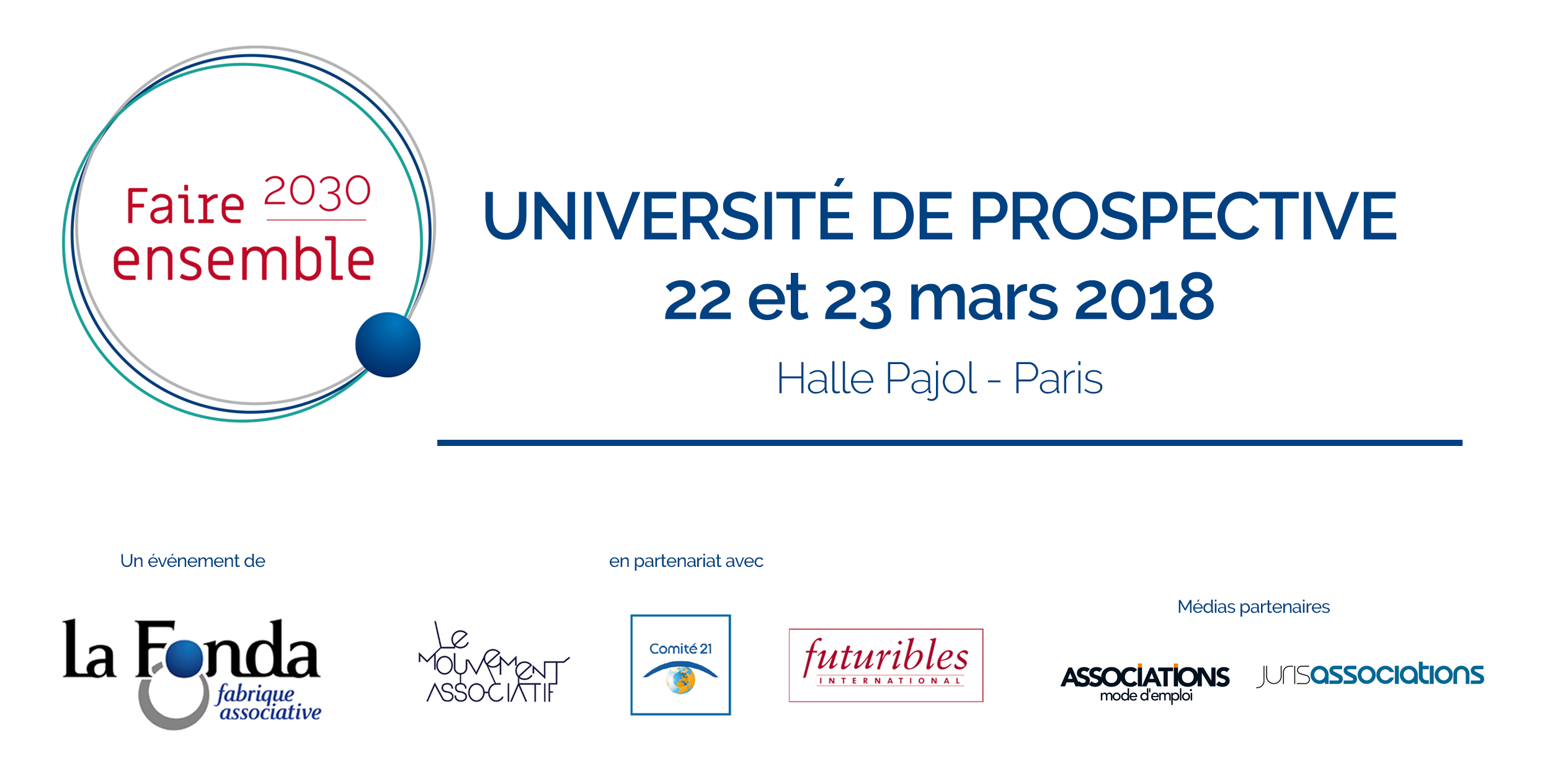 Université De Prospective « Faire Ensemble 2030 » – 22 Et 23 Mars à Paris