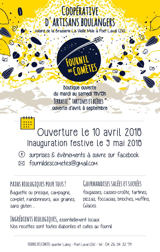 Grande Ouverture Du Fournil Des Comètes : Inauguration Festive Le 9 Mai !