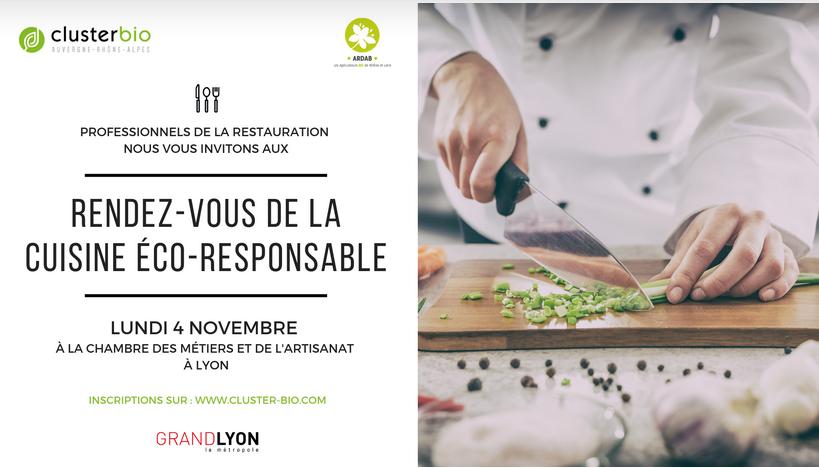 Rendez-vous De La Cuisine éco-responsable – Lundi 4 Novembre à Lyon