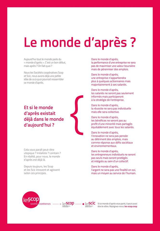 Le Manifeste Des Scop Et Des Scic Pour Le Monde D'après
